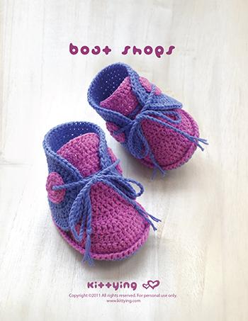 Baby Boat Shoes Crochet Pattern Kittying Crochet Pattern