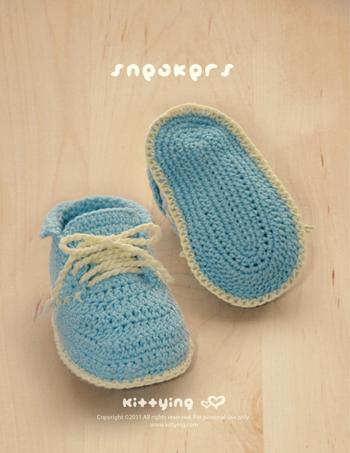 a95c740d2f7 Baby Sneakers Crochet Pattern by Kittying Crochet Pattern