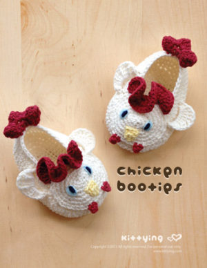 Crochet Animal Slippers Free Patterns | The WHOot | 388x300