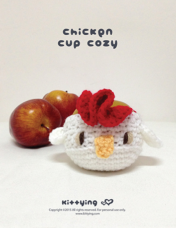 Crochet Pattern Chicken Fruit Cozy And Rooster Cup Cozy Kittying