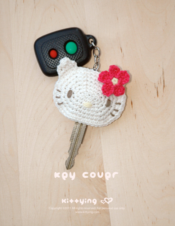 Kitten Key Cover Crochet Pattern · Kittying Crochet Pattern 23290e6fa22d