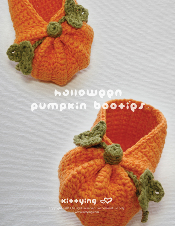 82dc5038093 Crochet Pattern Halloween Pumpkins Baby Booties