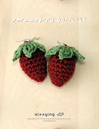 Crochet strawberry earrings pattern kittying crochet pattern crochet strawberry earrings pattern symbol diagram ccuart Gallery
