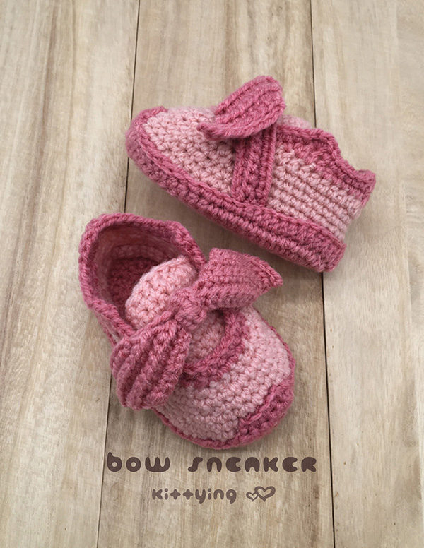 b4b9a0e02943 Bow Sneaker Toddler Crochet Pattern by KittyingCrochetPattern from  Kittying.com