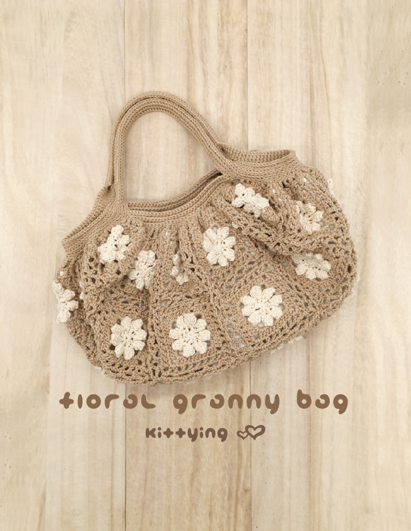 Crochet Pattern Floral Granny Bag Crochet Granny Square Handbag