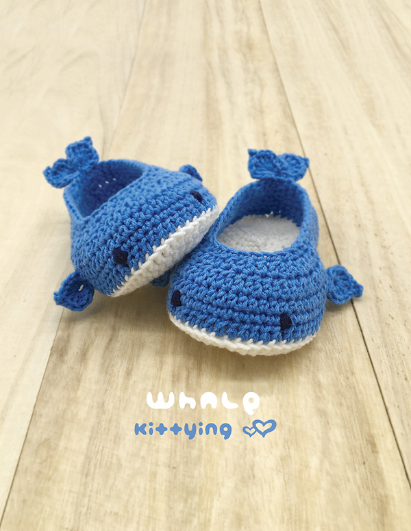 Whale Baby Booties Crochet Pattern Kittying Crochet Pattern